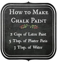 Chalk Paint Furniture - Need ideas for your furniture? How many recipes will I need to try to find one that works?