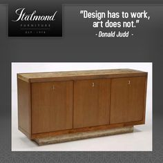 Italmond Custom Furniture delivers timeless craftsmanship and an unwavering devotion to flawless finishing and has earned the respect and won the loyalty of the world's most accomplished and extraordinary designers. Fashion Quotes, Design Quotes, Custom Furniture, Design Art, Cabinet, Storage, Home Decor, Style, Bespoke Furniture