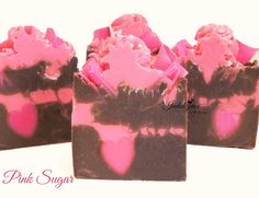 Pink Sugar Handmade Vegan Artisan Cold Process Soap by svsoaps