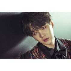 "BTS's Jimin And Suga Feature In New ""WINGS"" Concept Photos ❤ liked on Polyvore featuring bts, suga, kpop, people and yoongi"