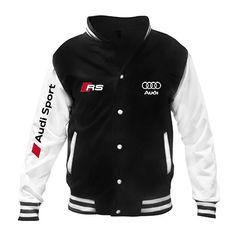 Custom Baseball Jacket with Audi Sport Design Baseball Jackets, Sports Baseball, Audi Sport, Softshell, Sports Jacket, Hoodie Jacket, Hoodies, Sweatshirts, Fashion