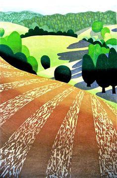 A woodblock print by Lynita Shimizu