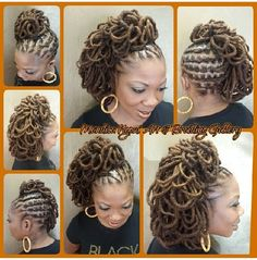 So Beautiful - Black Hair Information Community Dreadlock Styles, Dreads Styles, Braid Styles, Afro Punk, Dreadlock Hairstyles, Cool Hairstyles, Braided Hairstyles, Beautiful Black Hair, Natural Hair Styles