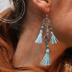 hand made earrings, kolczyki, kolcyzki z chwostami, boho, bohemian, biżuteria