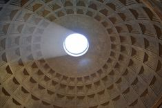 Pantheon in Rom. Sichtbeton- Kuppel