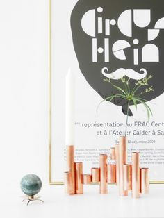 Skinny copper pipes make for the cutest minimalist planters, as well as a million-dollar sculptural display.