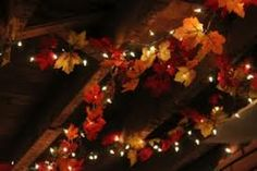 love garland with twinkly lights. Creates a warmth to those cold seasons