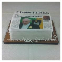 Newspapers cake.