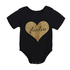 Soft Cotton Baby Bodysuit Summer Autumn Infant Toddler Heart Print Rompers Short Sleeve Jumpsuit Fashion Casual Bodysuit #Affiliate
