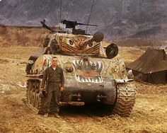 in Korean War Military Guns, Military Art, Military History, Military Vehicles, Military Drawings, Tank Armor, Sherman Tank, War Thunder, Military Modelling