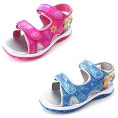 3b98788bd233 back to basics Disney Frozen Elsa Anna Girls Lighted Sport Sandals Shoes  Girls Flats