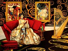 Melodies of Klimt Interior Painting by k Madison Moore, painting by artist k. Madison Moore