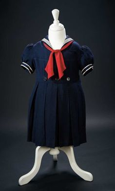 "Shirley Temple's Navy Blue Sailor Costume Worn in the 1936 Film ""Poor Little Rich Girl"" $2500+ Auctions Online 