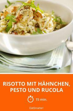 Risotto mit Hähnchen, Pesto und Rucola - smarter - Zeit: 15 Min. | eatsmarter.de