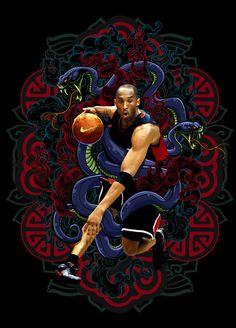 Kobe Bryant the Black Mamba Kobe Bryant Family, Kobe Bryant 24, Lakers Kobe Bryant, Basketball Art, Basketball Legends, Basketball Players, Kentucky Basketball, Kentucky Wildcats, College Basketball
