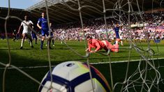 knocks one in against Swansea, Everton, All Star, Soccer, Football, Club, Sports, Hs Sports, Futbol