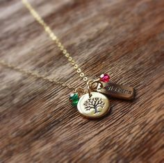 Personalized Sisters Necklace Gold Sisters par sevgicharms sur Etsy