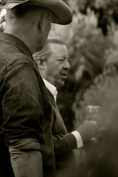Boz Scaggs as a winemaker at an Outstanding in The Field Dinner with Alice Waters in Petaluma Ca at the McEvoy Olive Ranch
