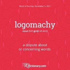 logomachy --