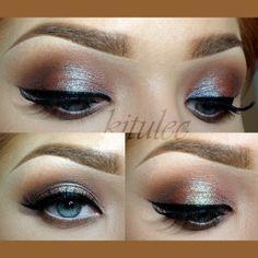 Inglot eyeshadows & AMC pigment 85 (kitulec)