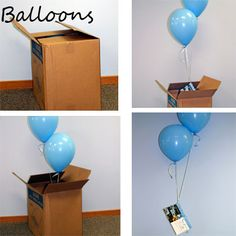 Tie a gift card to a balloon and put it in a box...the opener is sure be to surprised! More gift wrapping ideas here: http://www.cloud9living.com/blog/3-ways-wrap-experience-gift-pack