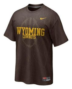 Wyoming Cowboys Brown Nike 2011 Official Football Practice T-Shirt Small