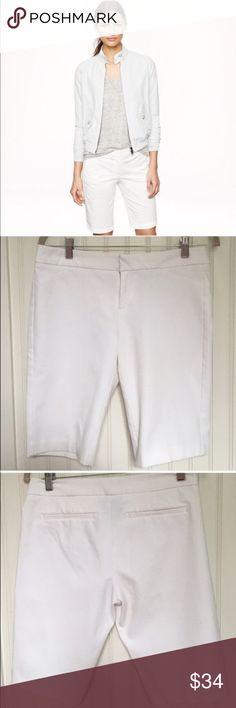Cynthia Rowley White Bermuda Shorts Size 6 Beautiful classic White Bermuda shorts by Cynthia Rowley. Size 6. 60% cotton 34% polyester 6% spandex. Size 6. Excellent preowned condition. Cynthia Rowley Shorts Bermudas