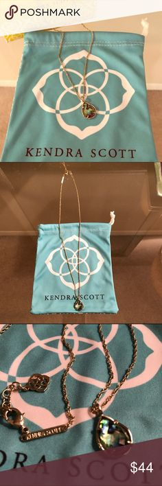 """Kendra Scott Kiri Necklace * Kiri Necklace in Abalone Shell. Size: 0.75""""L x 0.5""""W pendant on 18"""" chain with extender. Lobster claw closure. Abalone Shell has swirls of blue, green and purple hues. Comes with box and duster bag! Kendra Scott Jewelry Necklaces"""