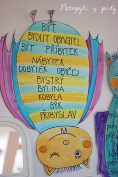 Protože nás ve třídě čeká největší strašák českého jazyka ... vyjmenovaná slova ... připravujeme se už dopředu a děti zdatně pomáhají. T... Dena, School Humor, Learning Games, School Hacks, Kids Education, Grade 1, Funny Kids, 3 D, Language
