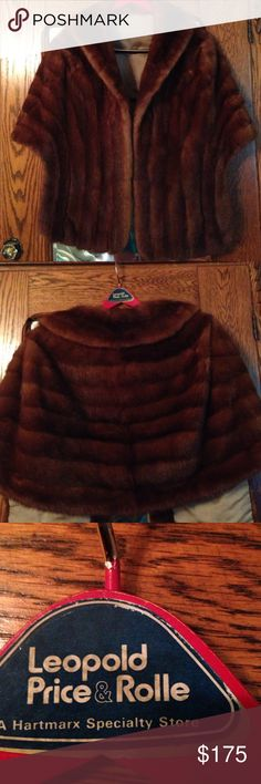 Mink stole Absolutely gorgeous, one of a kind vintage mahogany mink stole! Hard to find one in this pris teen condition! If you like to wear unique things, this is for you! Leopold, Price & Rolle Jackets & Coats