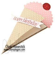 card - ice cream cone