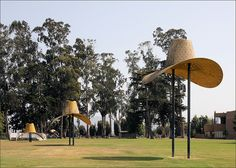 """Hat in Three Stages of Landing""-1982 Claes Oldenburg"