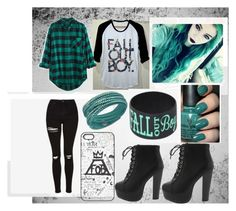 """Fall Out Boy outfit"" by emo-girl-lily on Polyvore featuring Madewell and Swarovski"