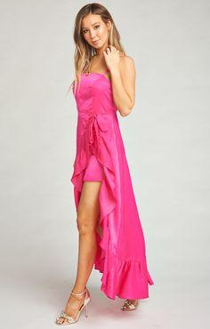 28a9a4bcbffd30 Peachy Queen Maxi Dress | Model call | Dresses, Forest green dresses ...