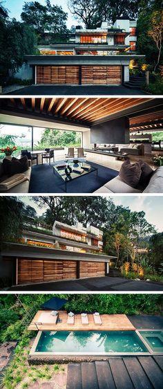 House Maza by CHK Arquitectura in Valle de Bravo, Mexico #ExteriorDesign