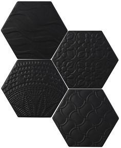 #Exarel Matt #Tonalite #Exabright #www.tonalite.it #Tiles #Piastrelle #Carreaux #Azulejos #Hexagonal #Decorated #Texture #Wall Tiles #Floor Tiles #Backsplash #Kitchen #Bathroom