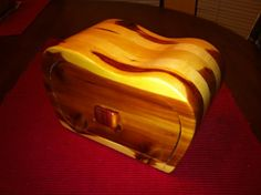 Bandsaw box, made from Red cedar and poplar