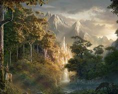 Mystical Snowy Forest | Digital Arts : Digital Matte Paintings and Fantasy Scene Digital Art ...