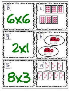 FREE Multiplication Matching Game :) This will be a great introduction to multiplication for my kids.