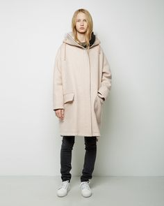 Shop Fashion on La Garconne, an online fashion retailer specializing in the elegantly understated. Long Overcoat, Plain Dress, Long Shorts, Fashion Outfits, Womens Fashion, Acne Studios, Short Skirts, Pretty Outfits, Parka