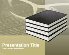 Literature PowerPoint Template PPT Template