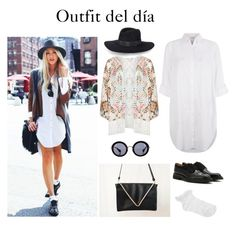 """""""Outfit del día #14"""" by ximenafleitascarteras on Polyvore featuring Belleza, Monsoon, Mat, Oasis, Church's, Miu Miu, Rebecca Minkoff, Summer, casual y outfit"""