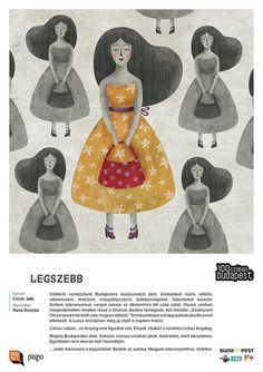 'Budapest in 100 words' exhibition (text: Judit Csiszár, illustration: Krisztina Maros)