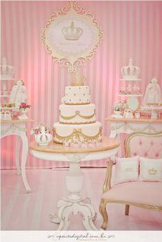princess Baby Shower Princess, Pink Princess, Princess Birthday, Baby Birthday, Princess Party, First Birthday Parties, First Birthdays, Ballerina Party, Barbie Party