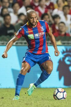 Crystal Palace midfielder Andros Townsend in action during the Premier League Asia Trophy match between Liverpool FC and Crystal Palace at Hong Kong Stadium on July 19, 2017 in Hong Kong, Hong Kong.