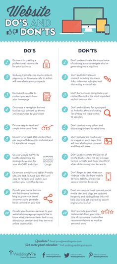 20 website dos and don'ts www.socialmediamamma.com #Business #infographic