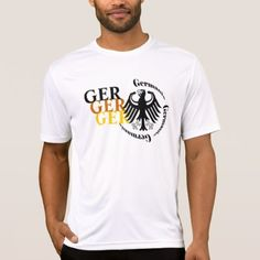 GER Germania...Eagle and GER in German flag colors T-Shirt - mens sportswear fitness apparel sports men healthy life