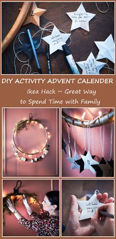 ikea hack - xmas advent calender by LinaA. Pin created by We~Ivy. Pic by Micke P/ SandraW