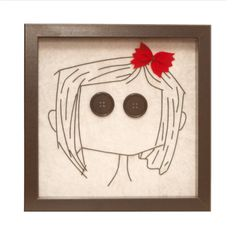 Girl face wire art Framed wall art Wall wire art by GaliConcept