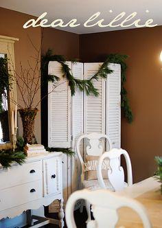white painted shutter door